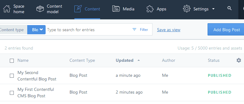Contentful Post list